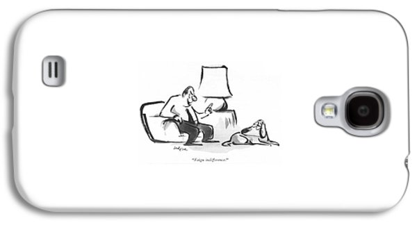 Feign Indifference Galaxy S4 Case by Lee Lorenz