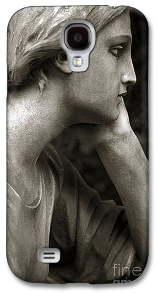 Female Angel Face Closeup - Female Angelic Face Portrait Galaxy S4 Case by Kathy Fornal