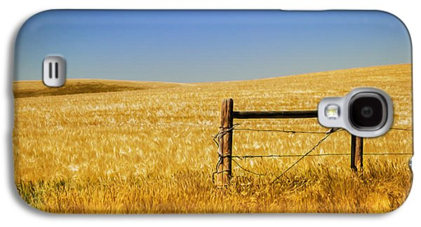 Fence Post Near Choteau Montana Painted Galaxy S4 Case