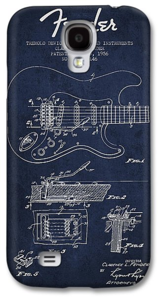 Fender Tremolo Device Patent Drawing From 1956 Galaxy S4 Case by Aged Pixel