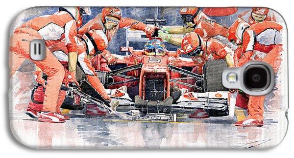 2012 Ferrari F 2012 Fernando Alonso Pit Stop Galaxy S4 Case