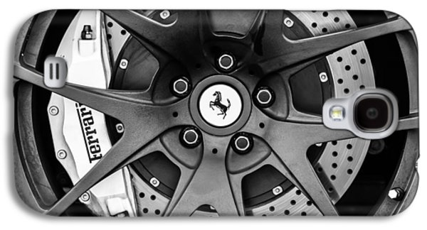 Ferrari Wheel Emblem - Brake Emblem -0430bw Galaxy S4 Case by Jill Reger