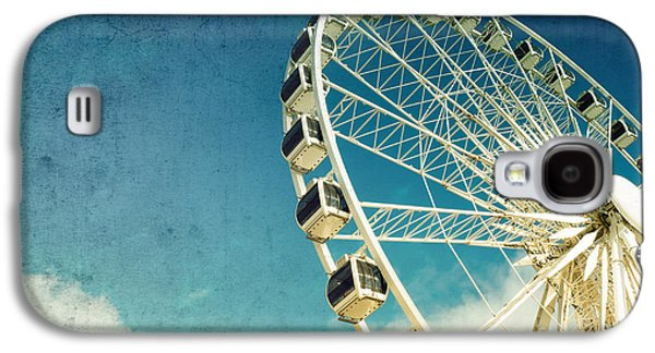 Ferris Wheel Retro Galaxy S4 Case by Jane Rix