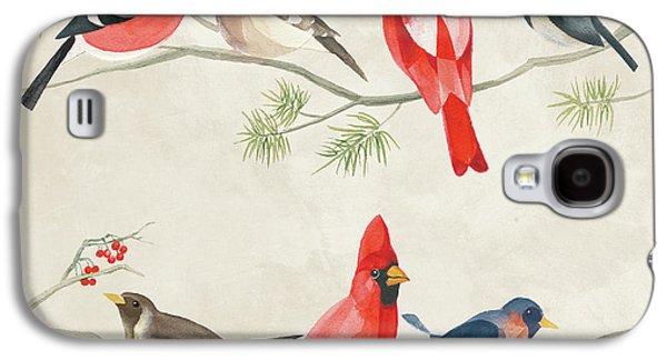 Festive Birds I Galaxy S4 Case by Danhui Nai