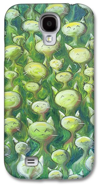 Galaxy S4 Case - Field Of Cats by Nik Helbig