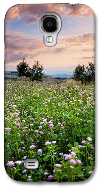 Field Of Wildflowers At Sunset Galaxy S4 Case by Brian Jannsen
