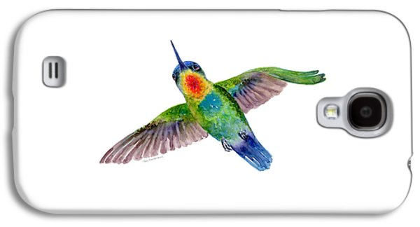 Fiery-throated Hummingbird Galaxy S4 Case by Amy Kirkpatrick