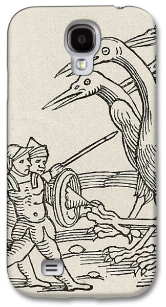 Fight Between Pygmies And Cranes. A Story From Greek Mythology Galaxy S4 Case by English School