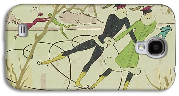 Figure Skating  Christmas Card Galaxy S4 Case by American School