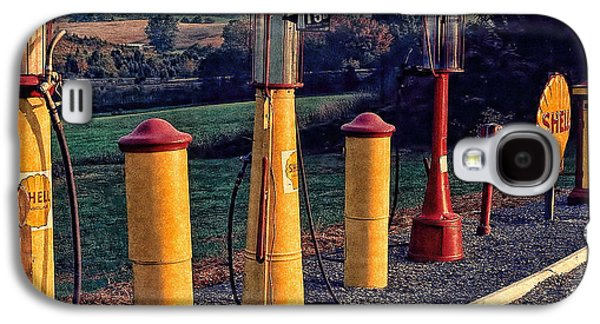 Fill 'er Up Vintage Fuel Gas Pumps Galaxy S4 Case by Bellesouth Studio