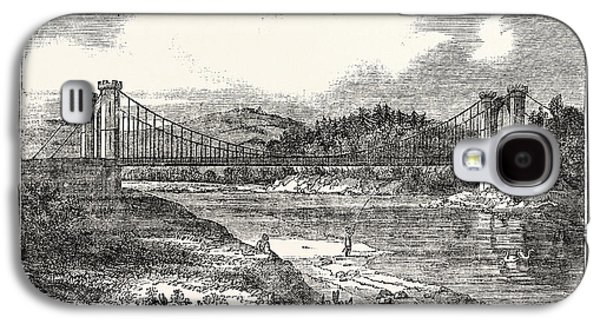 Findhorn Suspension Bridge Galaxy S4 Case by English School