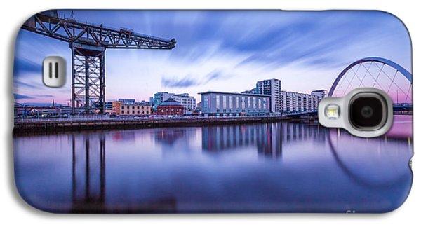 Finnieston Crane And Glasgow Arc Galaxy S4 Case by John Farnan