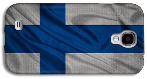 Finnish Flag Waving On Canvas Galaxy S4 Case by Eti Reid