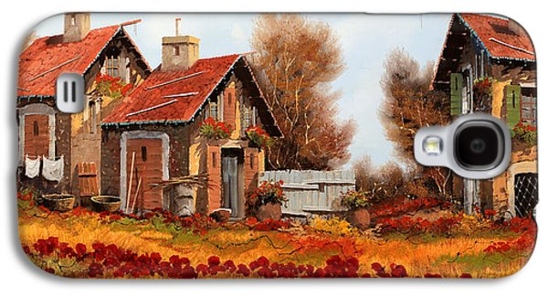 Fiori Amaranto Su Prato Giallo Galaxy S4 Case by Guido Borelli