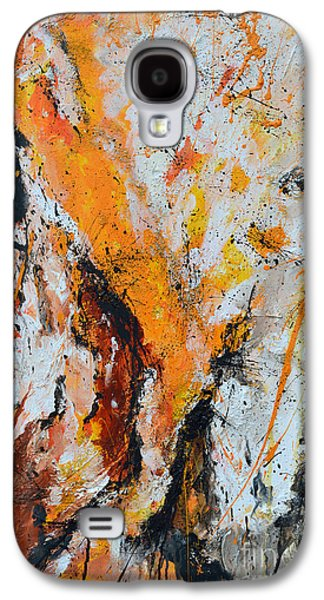 Fire And Passion - Abstract Galaxy S4 Case by Ismeta Gruenwald