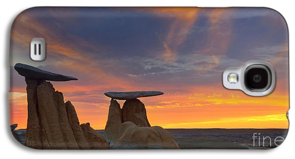 Fire In The Sky Galaxy S4 Case by Keith Kapple