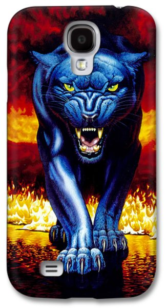 Fire Panther Galaxy S4 Case by MGL Studio - Chris Hiett