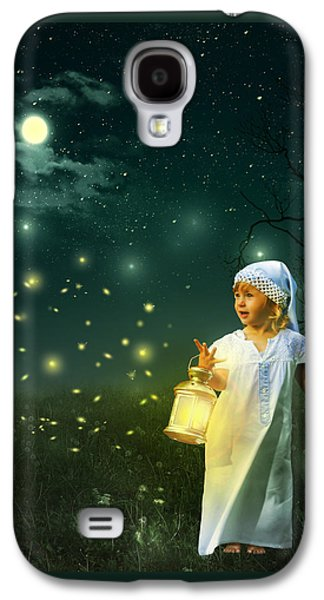 Fireflies Galaxy S4 Case by Linda Lees