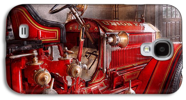 Fireman - Truck - Waiting For A Call Galaxy S4 Case by Mike Savad