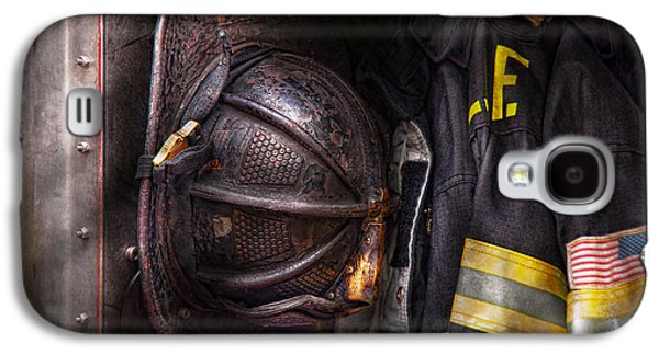 Fireman - Worn And Used Galaxy S4 Case by Mike Savad