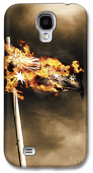 Fires Of Australian Oppression Galaxy S4 Case by Jorgo Photography - Wall Art Gallery