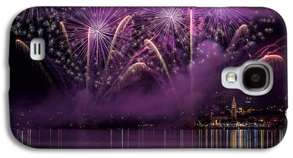 Fireworks Lake Pusiano Galaxy S4 Case by Roberto Marini
