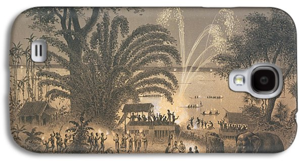 Fireworks On The River At Celebrations Galaxy S4 Case by Louis Delaporte