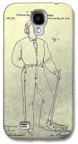First Denim Jeans Patent Galaxy S4 Case