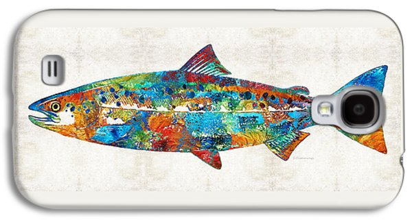 Fish Art Print - Colorful Salmon - By Sharon Cummings Galaxy S4 Case
