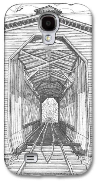 Fisher Railroad Covered Bridge Galaxy S4 Case