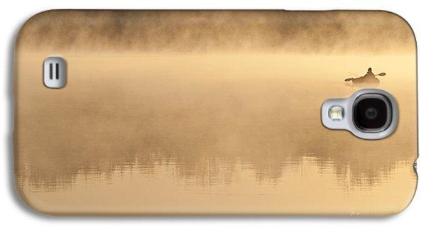 Fisherman In Kayak, Lake Cassidy Galaxy S4 Case by Jim Corwin