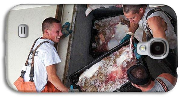 Fishermen Unloading Their Catch Galaxy S4 Case