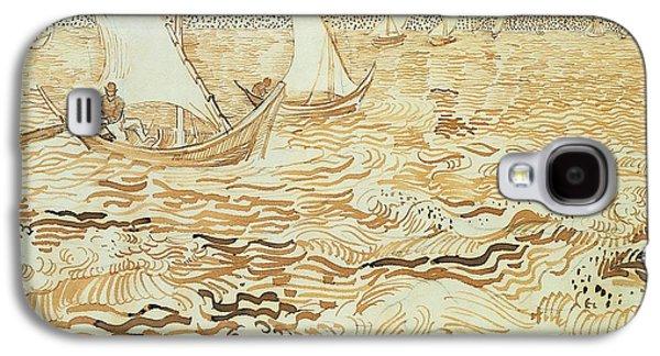 Fishing Boats At Saintes Maries De La Mer Galaxy S4 Case by Vincent van Gogh
