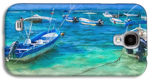 Fishing Boats Galaxy S4 Case