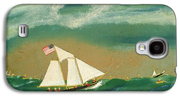 Fishing Schooner Josephine On The Grand Banks Galaxy S4 Case by John OJ Frost