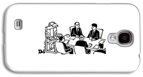 Five Executives Sit Around A Conference Table Galaxy S4 Case