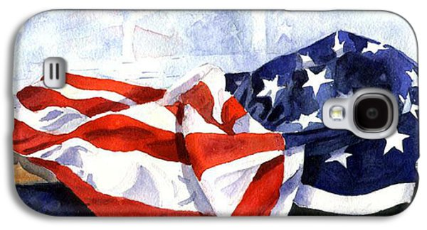 Flag In  The Window Galaxy S4 Case by Suzy Pal Powell