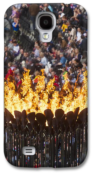 Flames Of Olympic Cauldron Designed By Galaxy S4 Case by Ian Cumming