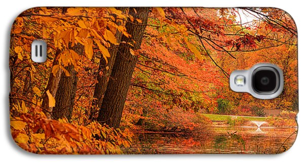 Flaming Leaves Galaxy S4 Case by Lourry Legarde