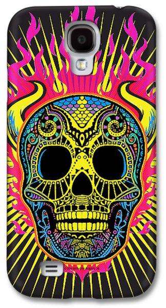 Flaming Skull Galaxy S4 Case by Tony Rubino