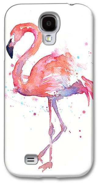 Flamingo Watercolor Galaxy S4 Case