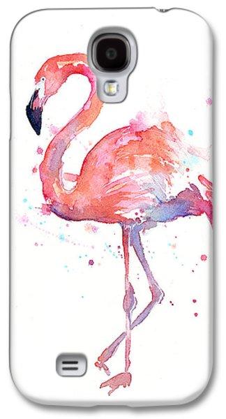 Galaxy S4 Case - Flamingo Watercolor by Olga Shvartsur