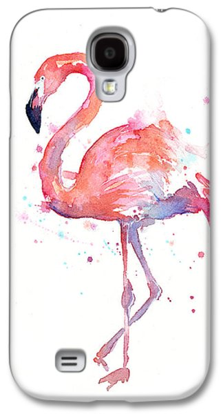 Galaxy S4 Case - Flamingo Watercolor by Olga Shvartsur