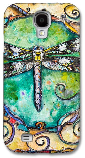 Flashy Dragonfly Children Of The Earth Series Galaxy S4 Case by Patricia Allingham Carlson