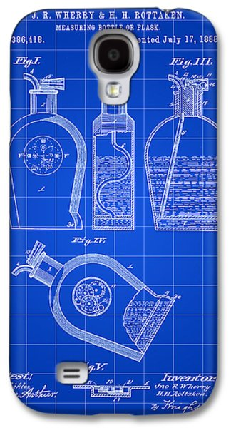 Flask Patent 1888 - Blue Galaxy S4 Case by Stephen Younts