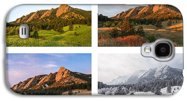 Flatirons Four Seasons With Border Galaxy S4 Case