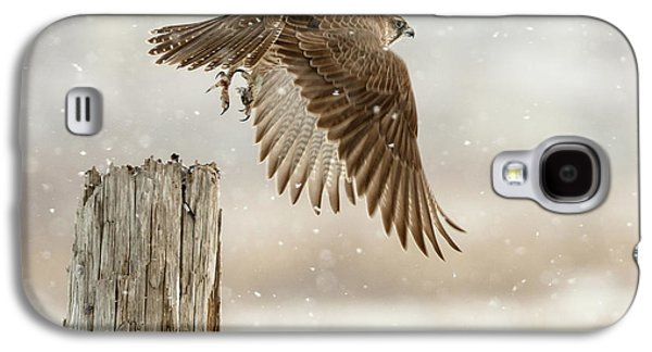 Falcon Galaxy S4 Case - Flight Against The Snowstorm by Osamu Asami