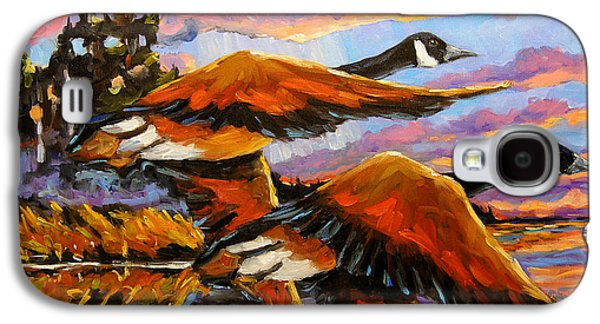 Flight Navigations Geese In  Motion Galaxy S4 Case by Richard T Pranke