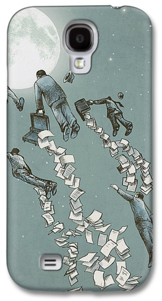 Flight Of The Salary Men Galaxy S4 Case by Eric Fan