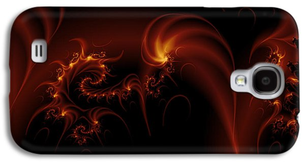 Floating Fire Fractal Galaxy S4 Case